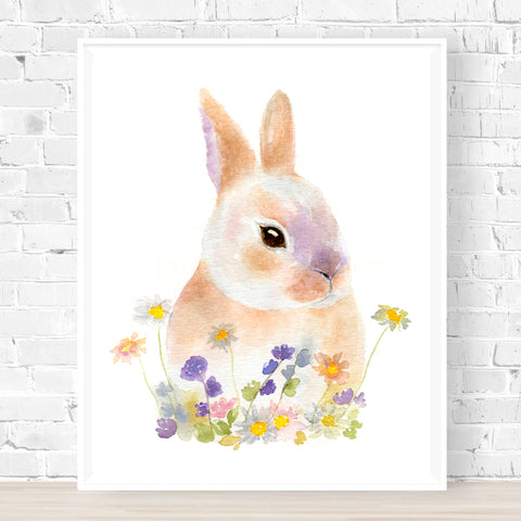Bunny in Blooms No.1 Print