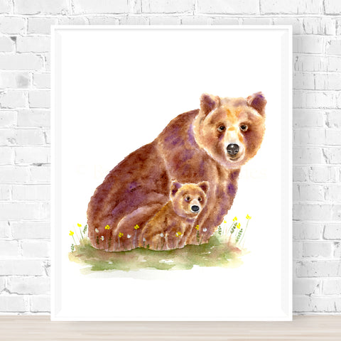 'Cub Training' Bear Print