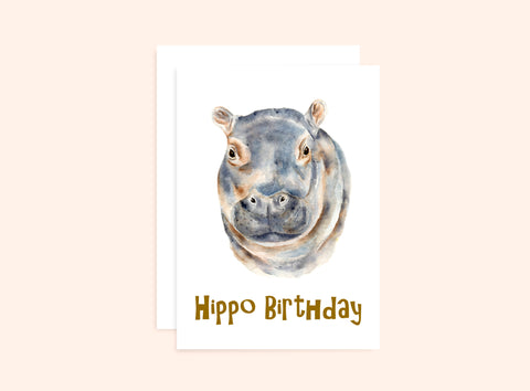 Hippo Birthday Card