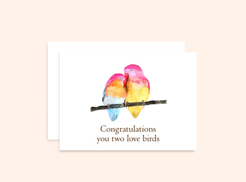 Lovebirds Congratulations Card
