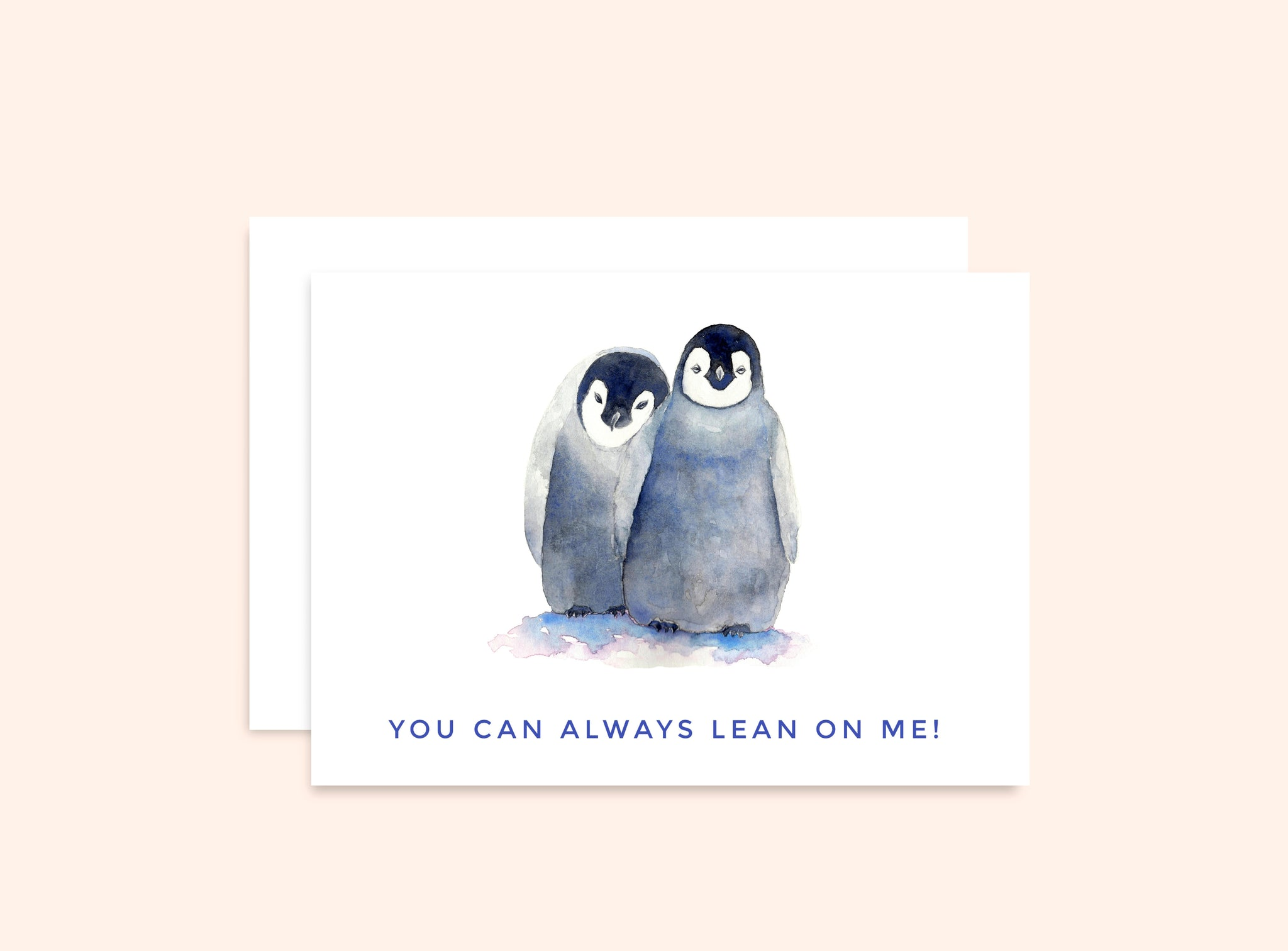 "Penguins Card ""You Can Always Lean On Me"""