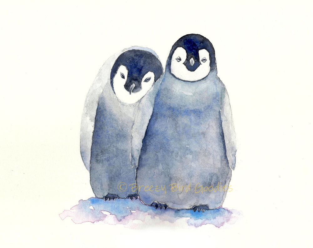 """You Can Always Lean On Me"" Penguins Card"