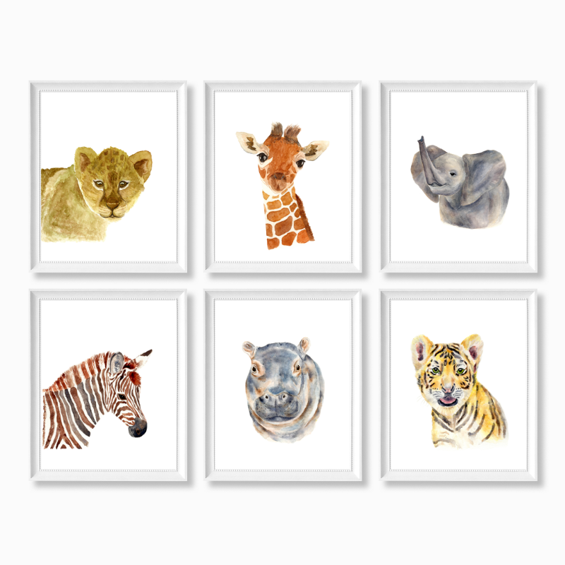 Safari Animals Set of 6