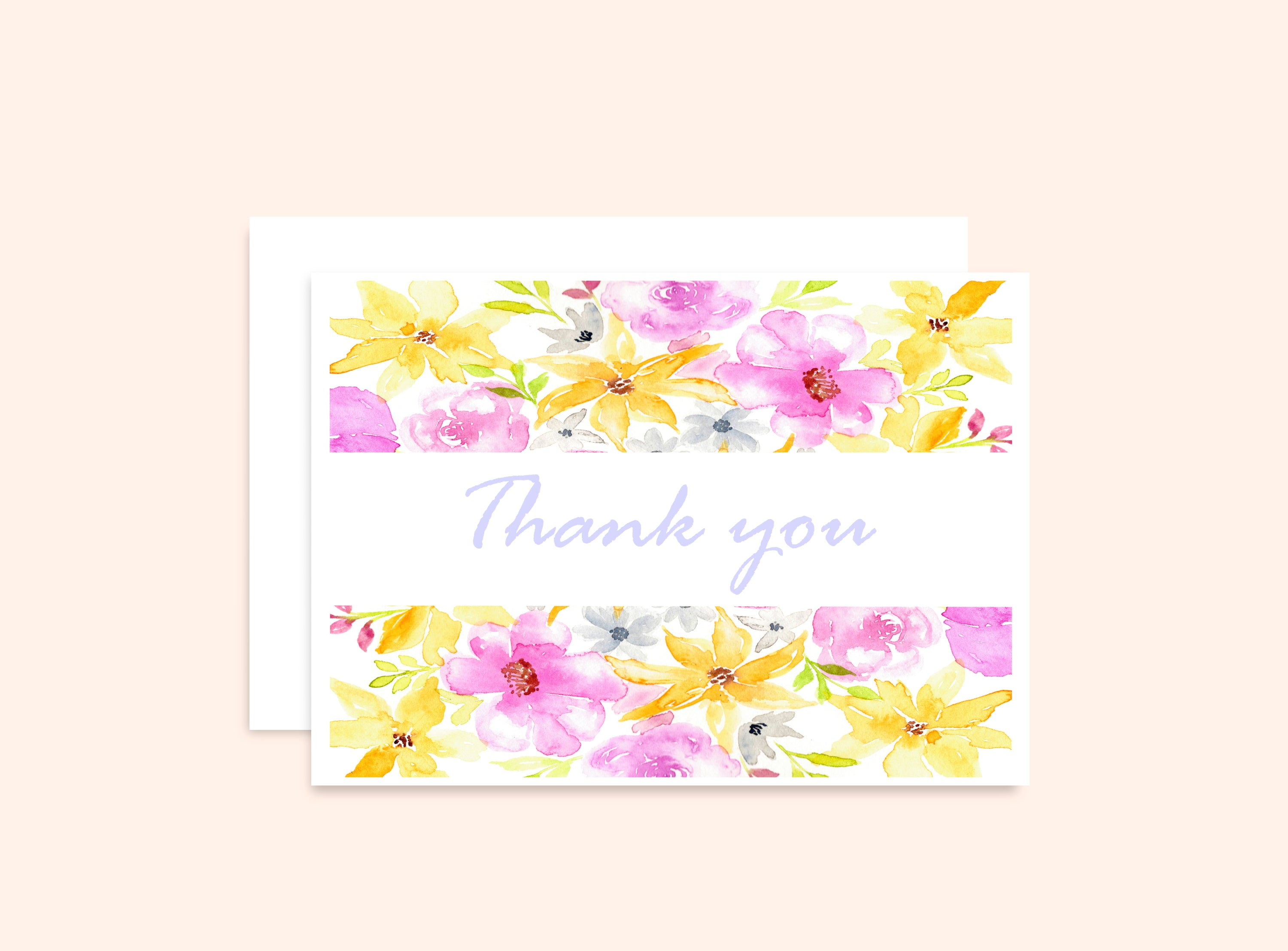 "Flowers Card ""Thank you"""