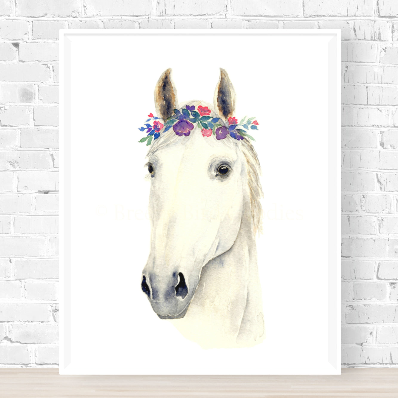 Shannon the White Horse Print