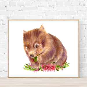 Charlie the Wombat Print