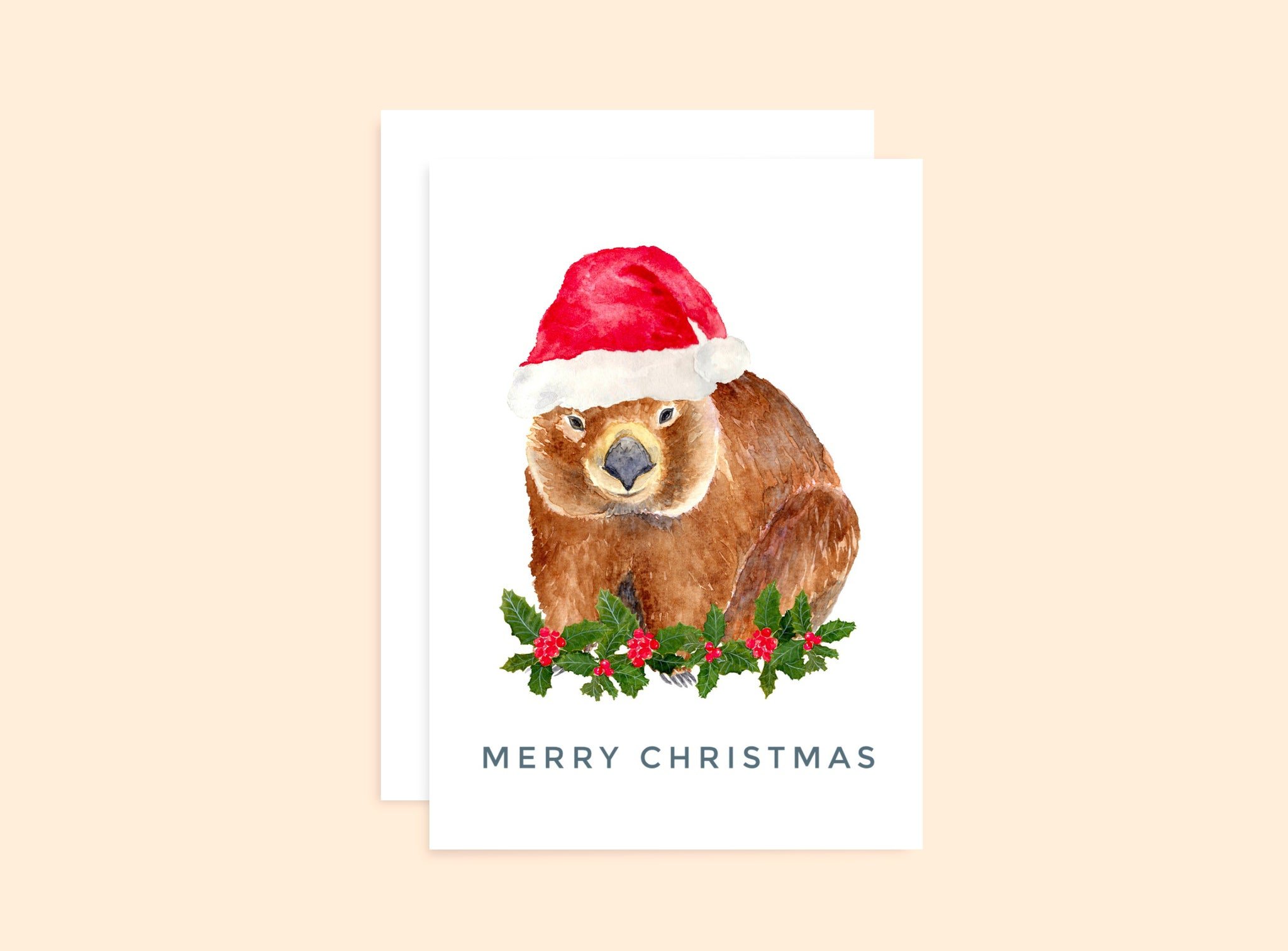 Christmas Wombat Card