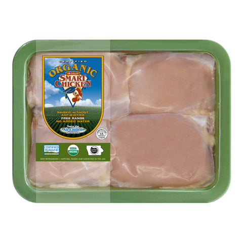 Organic Boneless Skinless Chicken Thighs (6 Packages)