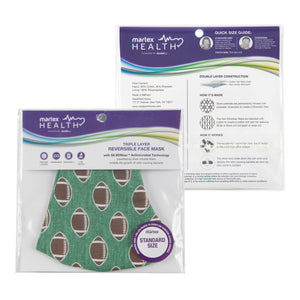 Martex Health Sports Triple Layer Face Masks with SILVERbac Antimicrobial Technology
