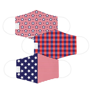 Martex Health Star Spangled Reversible Triple Layer Face Masks with SILVERbac™ Antimicrobial Technology
