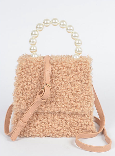 Sherpa Clutch**1 Beige Left
