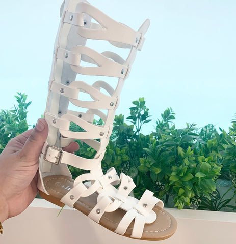 The Xena Sandal WHITE