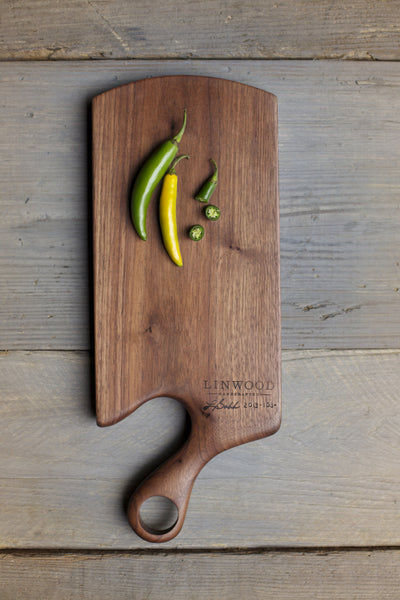 103. Handcrafted Walnut Wood Cutting Board With Handle For the Kitchen