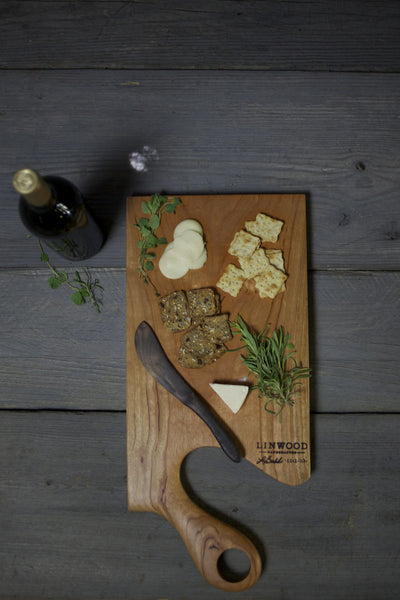 113B. Extra Large Handmade Cherry Wooden Cutting Board from Linwood