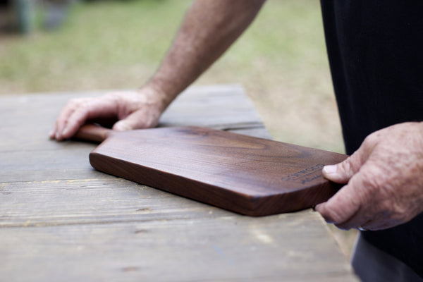 115. Medium Black Walnut Wood Handcrafted Cutting Board