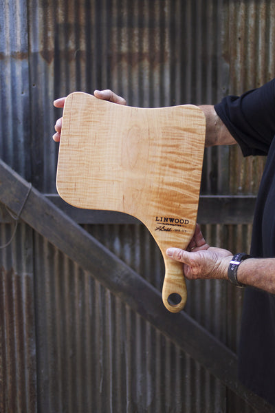 119. Handmade Tiger Maple Cutting Board by Lin Babb of Linwood