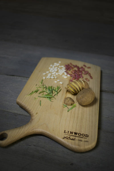 124. Extra Large Maple Wood Cutting Board and Serving Piece by Lin Babb of Linwood