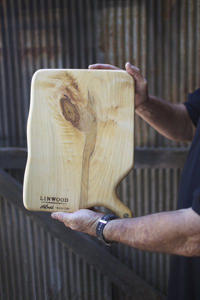 128. Large Handmade Maple Wood Cutting Board by Linwood.
