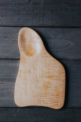 132. Handmade Tiger Maple Cutting Board by Linwood