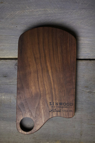 135. Handmade Black Walnut Wood Cutting Board by Lin Babb of Linwood