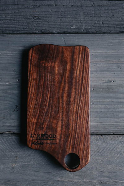 136. Handmade Black Walnut Cutting Board by Linwood