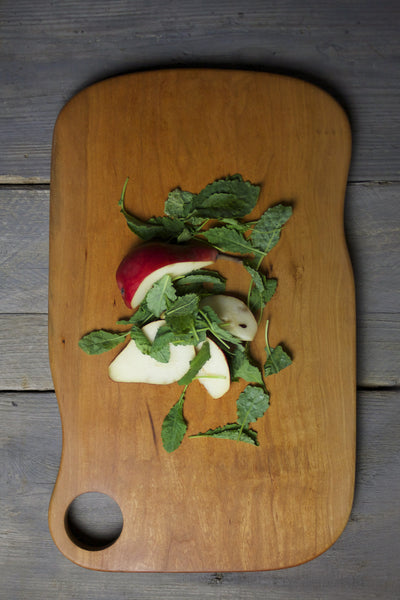137. Extra Large Handmade Cherry Wood Cutting Board and Serving Board by Lin Babb of Linwood