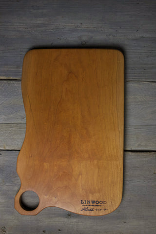 138. Extra Large Handmade Cherry Wood Cutting Board by Lin Babb of Linwood