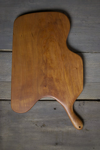 141. Extra Large Handmade Cherry Wood Cutting Board by Lin Babb of Linwood