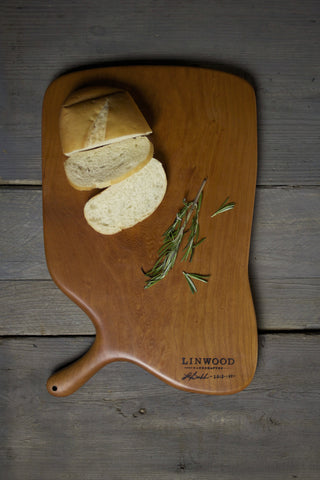 142. Extra Large Handmade Cherry Wood Cutting Board by Lin Babb of Linwood.