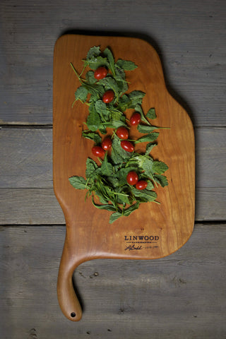 144. Extra Large Handmade Cherry Wood Cutting Board by Lin Babb of Linwood