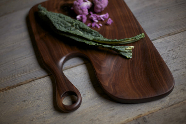148B. Extra Large Black Walnut Wood Handcrafted Cutting Board
