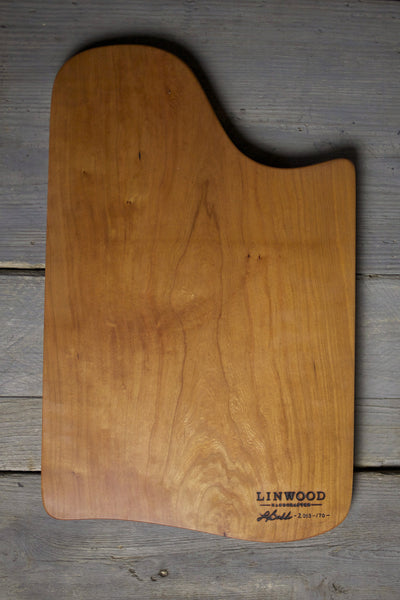170. Extra Large Handmade Cherry Wood Cutting Board and Serving Board by Lin Babb of Linwood