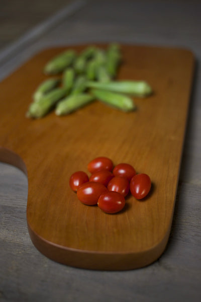 171. Extra Large Handmade Cherry Wood Cutting Board by Lin Babb of Linwood
