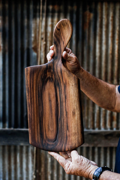 219. Handmade Black Walnut Serving and Cutting Board by Linwood