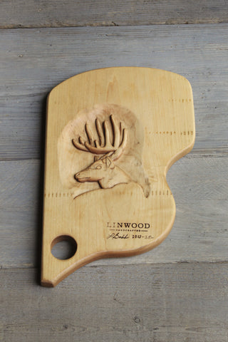 25. Carved Deer Cutting Board