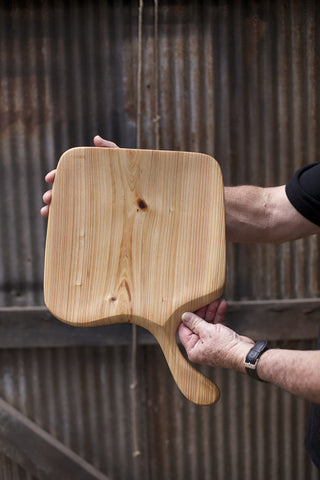 276. Handmade Wooden Platter, Serving Board, Cutting Board out of Cypress Wood by Lin Babb of Linwood