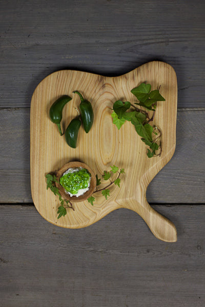 277. Handmade Wooden Platter, Serving Board, and Cutting Board out of Cypress Wood by Lin Babb of Linwood.