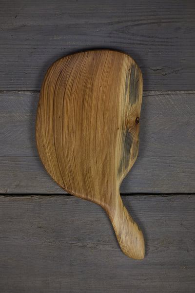 282. Handmade Wooden Platter, Serving Board, Cutting Board out of Cypress Wood by Lin Babb of Linwood