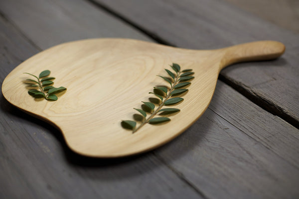283. Handmade Wooden Platter, Serving Board, Cutting Board out of Cypress Wood by Lin Babb of Linwood