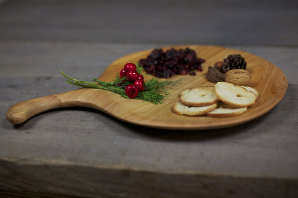 184. Handmade Wood Platter, Serving Board, Cutting Board out of Cypress Wood by Lin Babb of Linwood