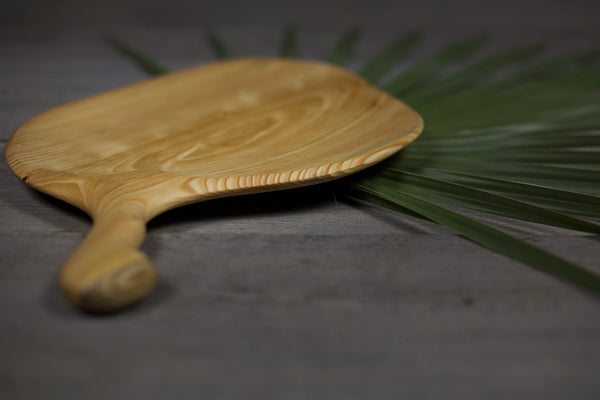 285. Handmade Wooden Platter, Serving Board, Cutting Board out of Cypress Wood by Lin Babb of Linwood