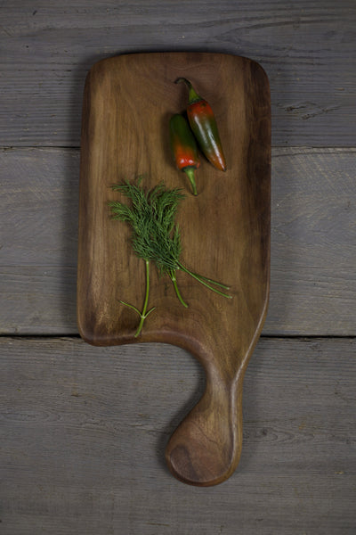 287. Handmade Wooden Platter, Serving Board, Cutting Board out of Black Walnut Wood by Lin Babb of Linwood