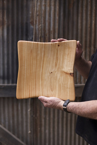 288. Handmade Wooden Platter, Serving Board, Cutting Board out of Cypress Wood by Lin Babb of Linwood