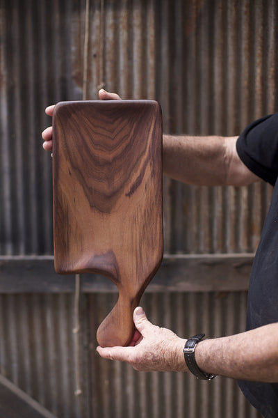289. Handmade Wooden Platter, Serving Board, Cutting Board out of Black Walnut Wood by Lin Babb of Linwood
