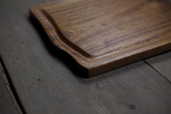 290. Handmade Wooden Cutting Board out of Sapele Wood with a Drip Edge by Lin Babb of Linwood