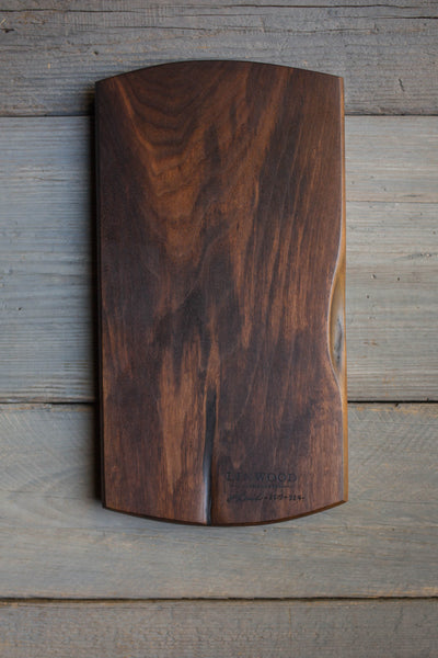 324. Handmade black walnut wood cutting board by Lin Babb of Linwoodco.com. Handcrafted cutting boards for the kitchen.