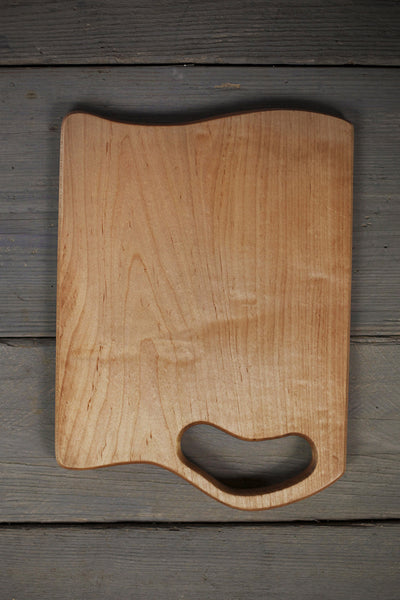 338. Extra Large Handmade Maple Wood Cutting Board and Serving Piece by Lin Babb.