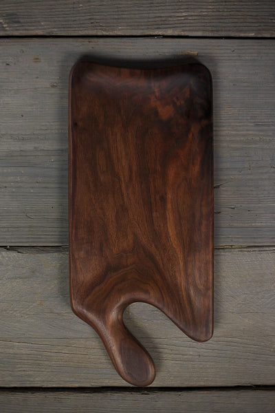 342. Large handmade cutting board and serving tray made of black walnut wood