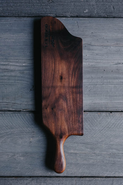 374. Handmade Black Walnut Wood Serving and Cutting Board by Linwood