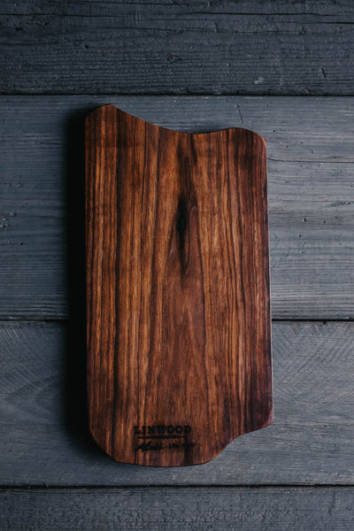 385. Handmade Black Walnut Wood Serving and Cutting Board by Linwood
